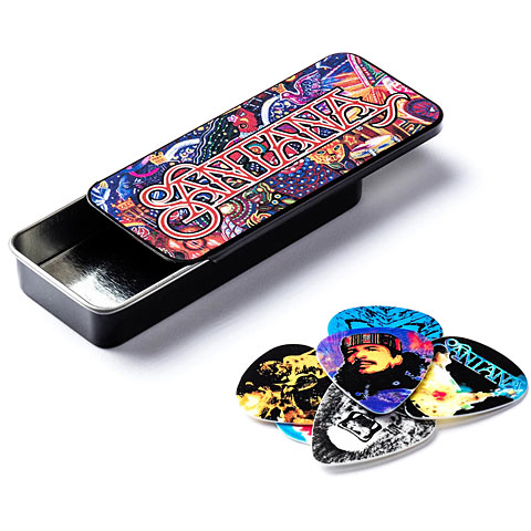 Dunlop Santana Pick Tin, Medium, 6 picks