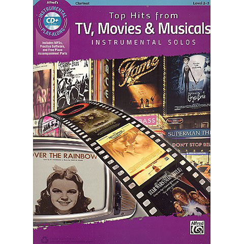 Alfred KDM Top hits from TV, Movies and Musicals for clarinet