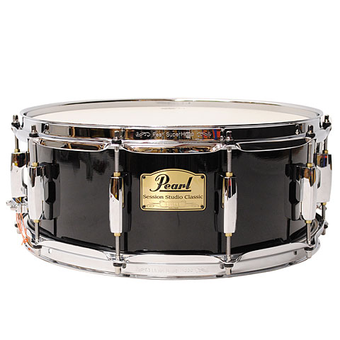 Pearl session studio classic 14 x 5 5 piano black snare for Classic house drums