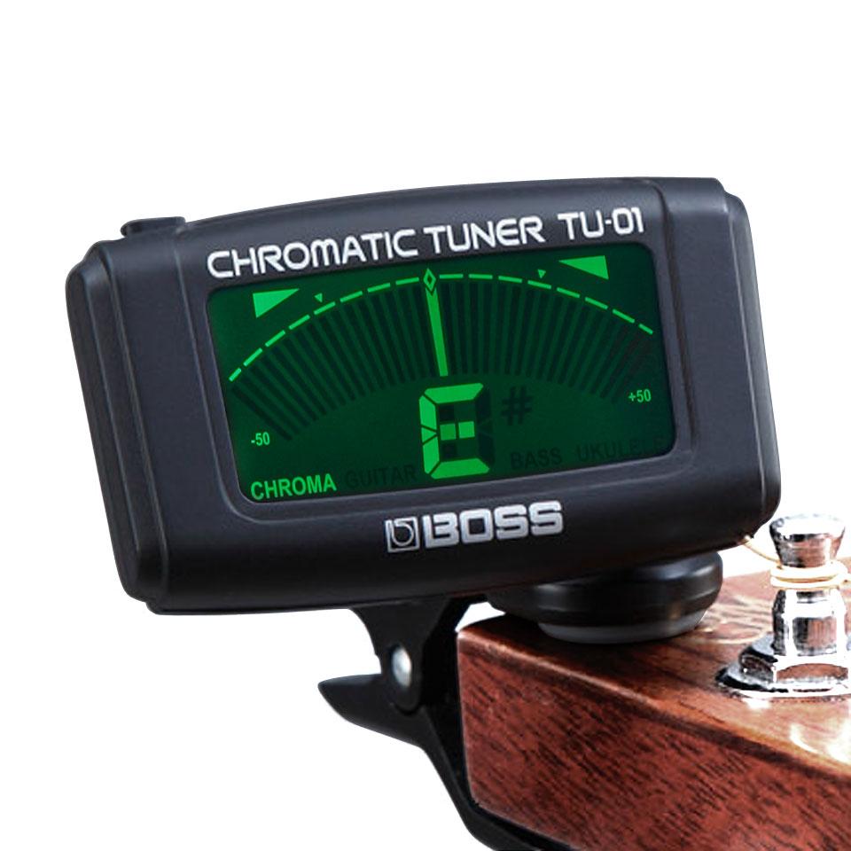 Bass etc. Boss TU-01 Chromatic Clip On Tuner Stimmgerät für Gitarre