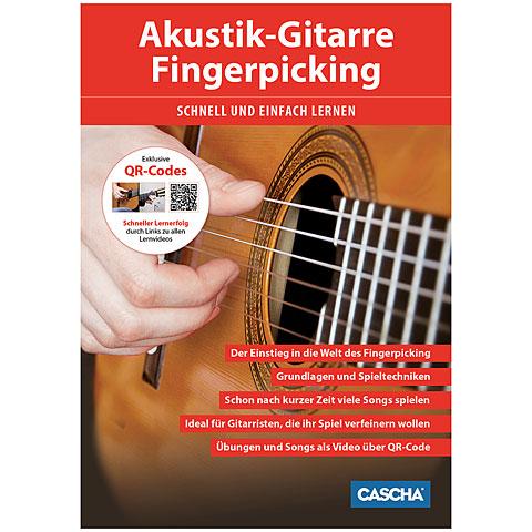 Manuel pédagogique Cascha Akustik-Gitarre Fingerpicking - Schnell und einfach lernen