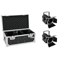 Eurolite Set 2x LED THA-40PC sw + Case « Set completo
