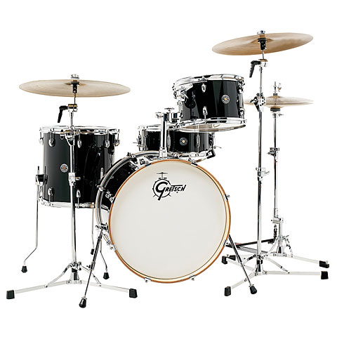 "Batterie acoustique Gretsch Drums Catalina Club 20"" Piano Black Drumset"