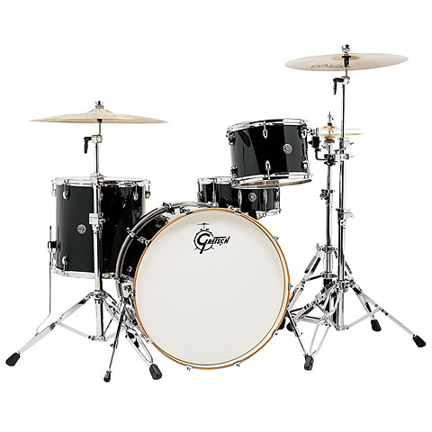 Gretsch 24  Piano Black Drumset
