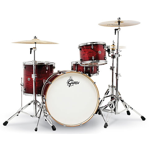 "Schlagzeug Gretsch Drums Catalina Club 24"" Gloss Crimson Burst Drumset"