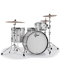 "Gretsch Drums USA Brooklyn 20"" Silver Sparkle Drumset"