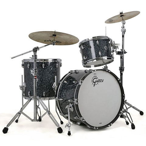 "Schlagzeug Gretsch Drums USA Brooklyn 20"" Deep Marine Black Pearl Drumset"