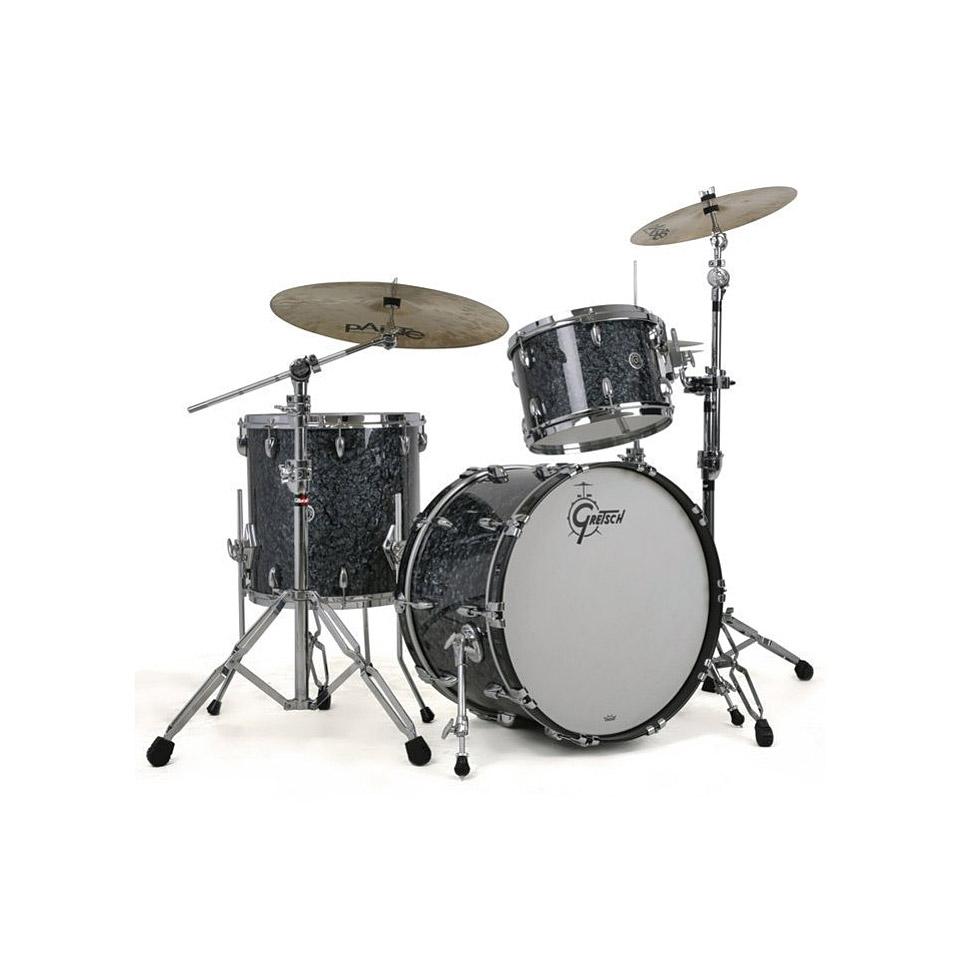 gretsch drums usa brooklyn 20 deep marine black pearl drumset drum kit. Black Bedroom Furniture Sets. Home Design Ideas