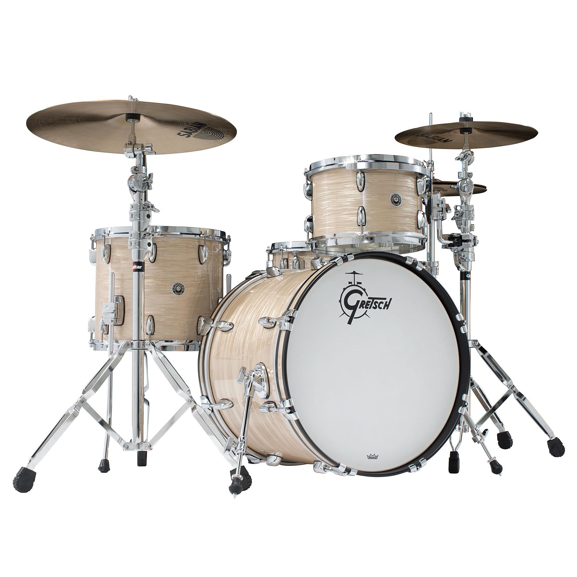 6df63557369c ... Drum Kit Gretsch Drums USA Brooklyn 20 Cream Oyster Drumset (2) ...