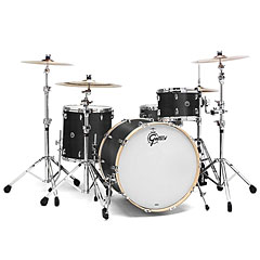 "Gretsch Drums USA Brooklyn 20"" Satin Dark Ebony Drumset « Batterie acoustique"