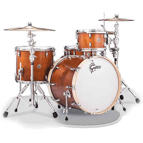 """Batterie acoustique Gretsch Drums USA Brooklyn 20"""" Satin Mahogany Drumset"""