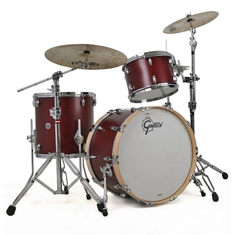 "Gretsch Drums USA Brooklyn 20"" Satin Cherry Red Drumset"