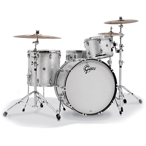 "Gretsch Drums USA Brooklyn 22"" Silver Sparkle Drumset"