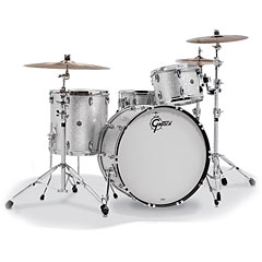 "Gretsch Drums USA Brooklyn 22"" Silver Sparkle Drumset « Batería"
