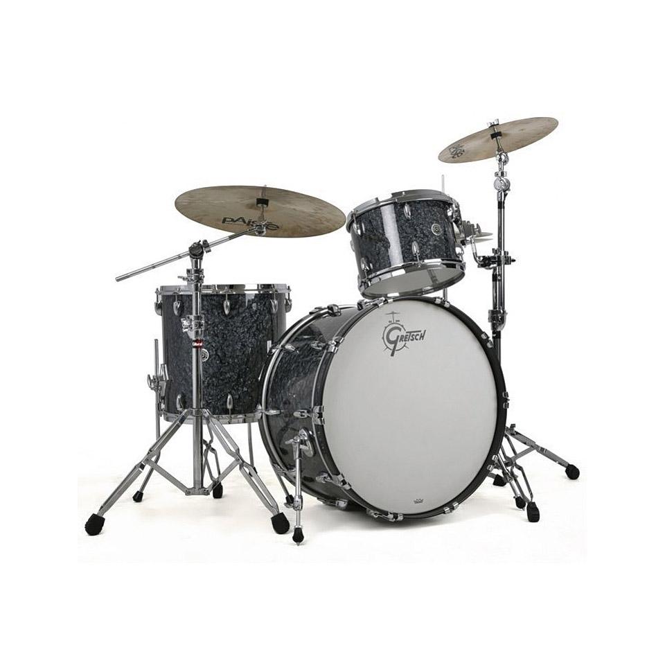 gretsch drums usa brooklyn 22 deep marine black pearl drumset drum kit. Black Bedroom Furniture Sets. Home Design Ideas