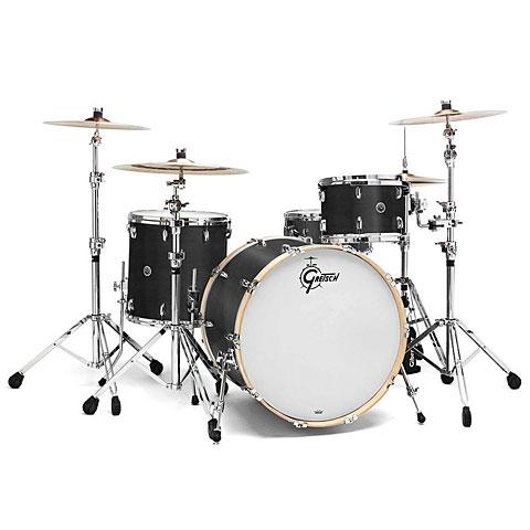 """Gretsch Drums USA Brooklyn 22"""" Satin Dark Ebony Drumset"""