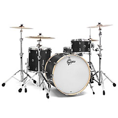 "Gretsch Drums USA Brooklyn 22"" Satin Dark Ebony Drumset « Drumstel"
