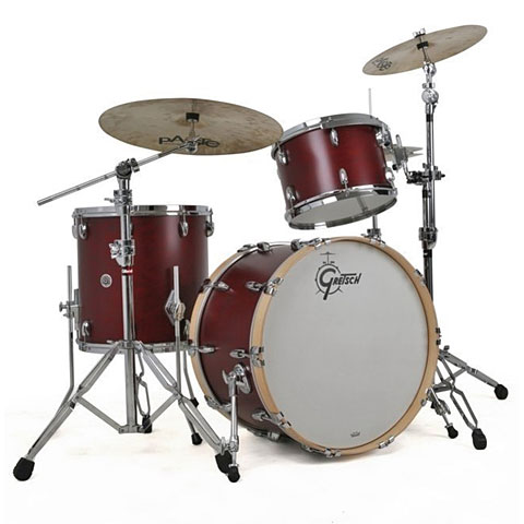 Gretsch Drums USA Brooklyn 22  Satin Cherry Red Drumset