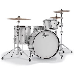 "Gretsch Drums USA Brooklyn 24"" Silver Sparkle Drumset « Batería"