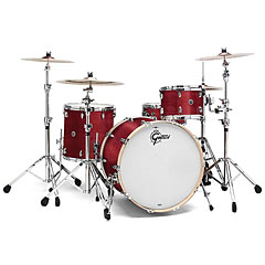 "Gretsch Drums USA Brooklyn 24"" Satin Cherry Red  Drumset « Drum Kit"