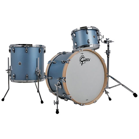 "Schlagzeug Gretsch Drums USA Brooklyn 24"" Satin Ice Blue Metallic Drumset"