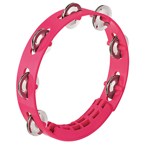 Nino 8  Strawberry Pink ABS Compact Tambourine
