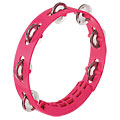 "Nino 8"" Strawberry Pink ABS Compact Tambourine « Tamburello"