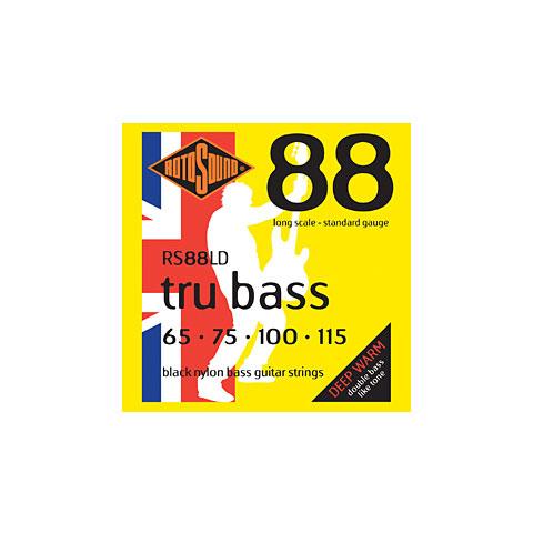 Saiten E-Bass Rotosound Flatwound Black Nylon RS88LD tru bass 065-115