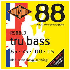 Rotosound Flatwound Black Nylon RS88LD tru bass 065-115 « Electrische Bas Snaren