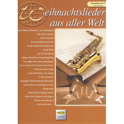 Libro de partituras Holzschuh Weihnachtslieder aus aller Welt for Alto-Saxophon