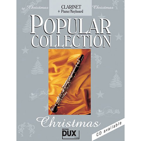 Libro de partituras Dux Popular Collection Christmas for Clarinet/Piano