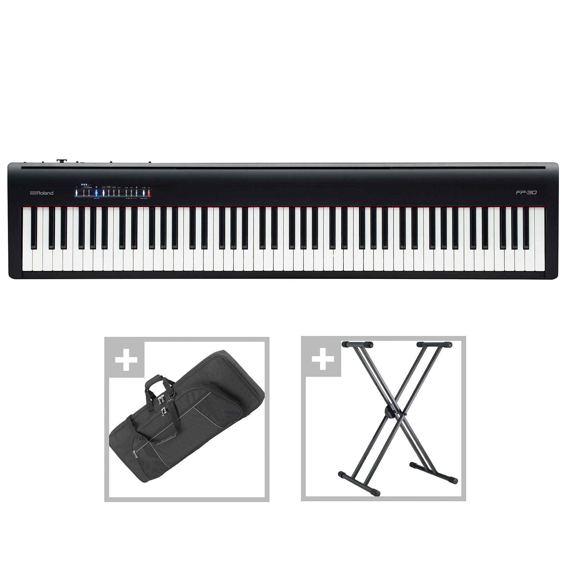 roland fp 30 bk set ii stage piano. Black Bedroom Furniture Sets. Home Design Ideas