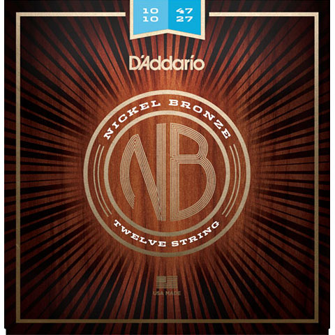 D'Addario NB1047-12 Nickel Bronze .10-047