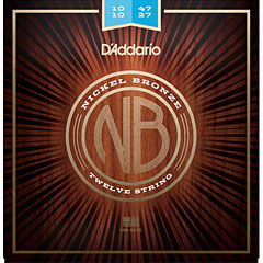 D'Addario NB1047-12 Nickel Bronze .10-047 « Corde guitare folk