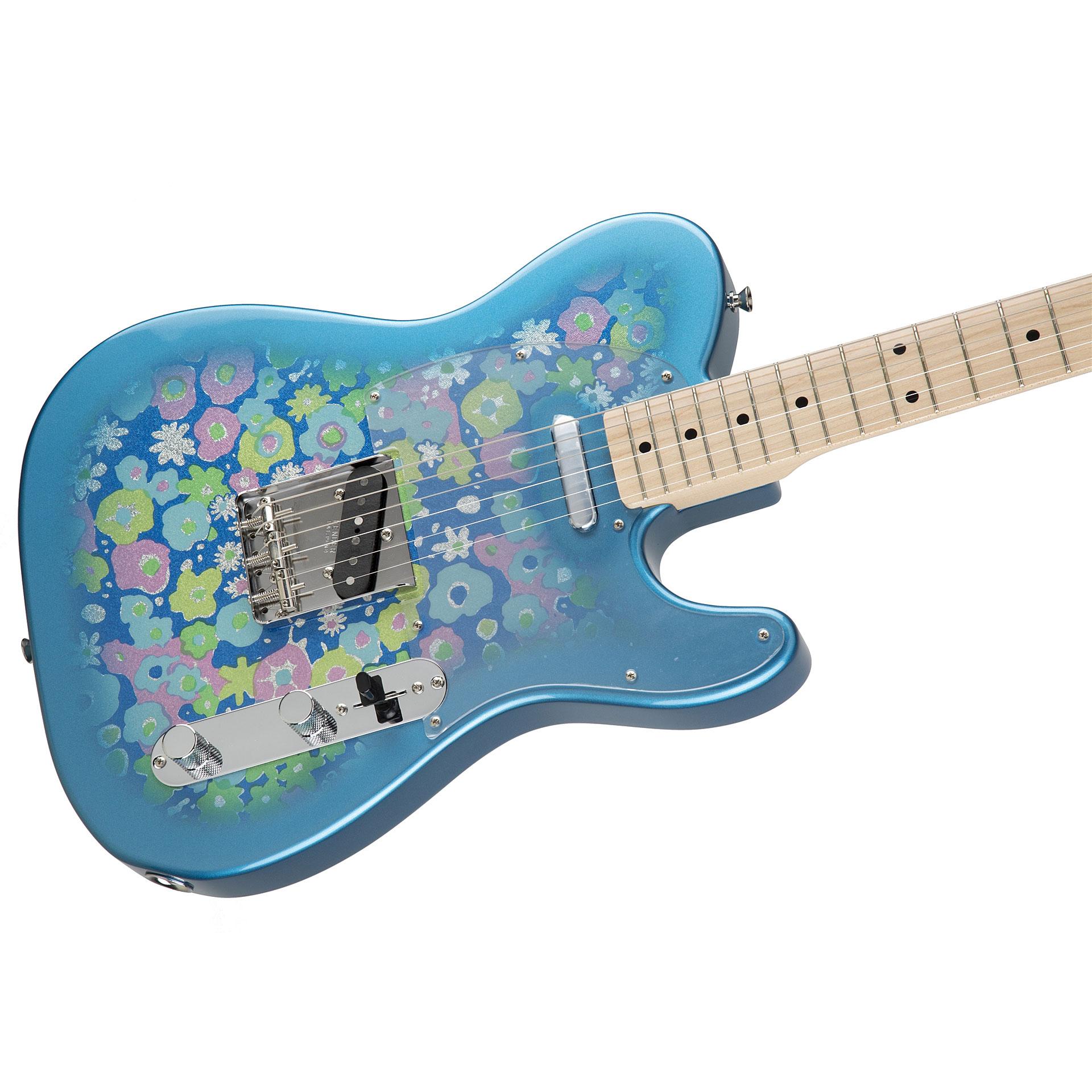 fender fsr 69 telecaster blue flower electric guitar. Black Bedroom Furniture Sets. Home Design Ideas