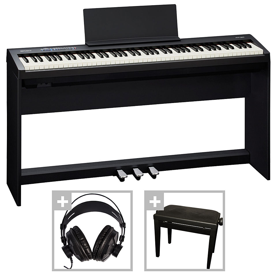 roland fp 30 bk deluxe set stage piano. Black Bedroom Furniture Sets. Home Design Ideas