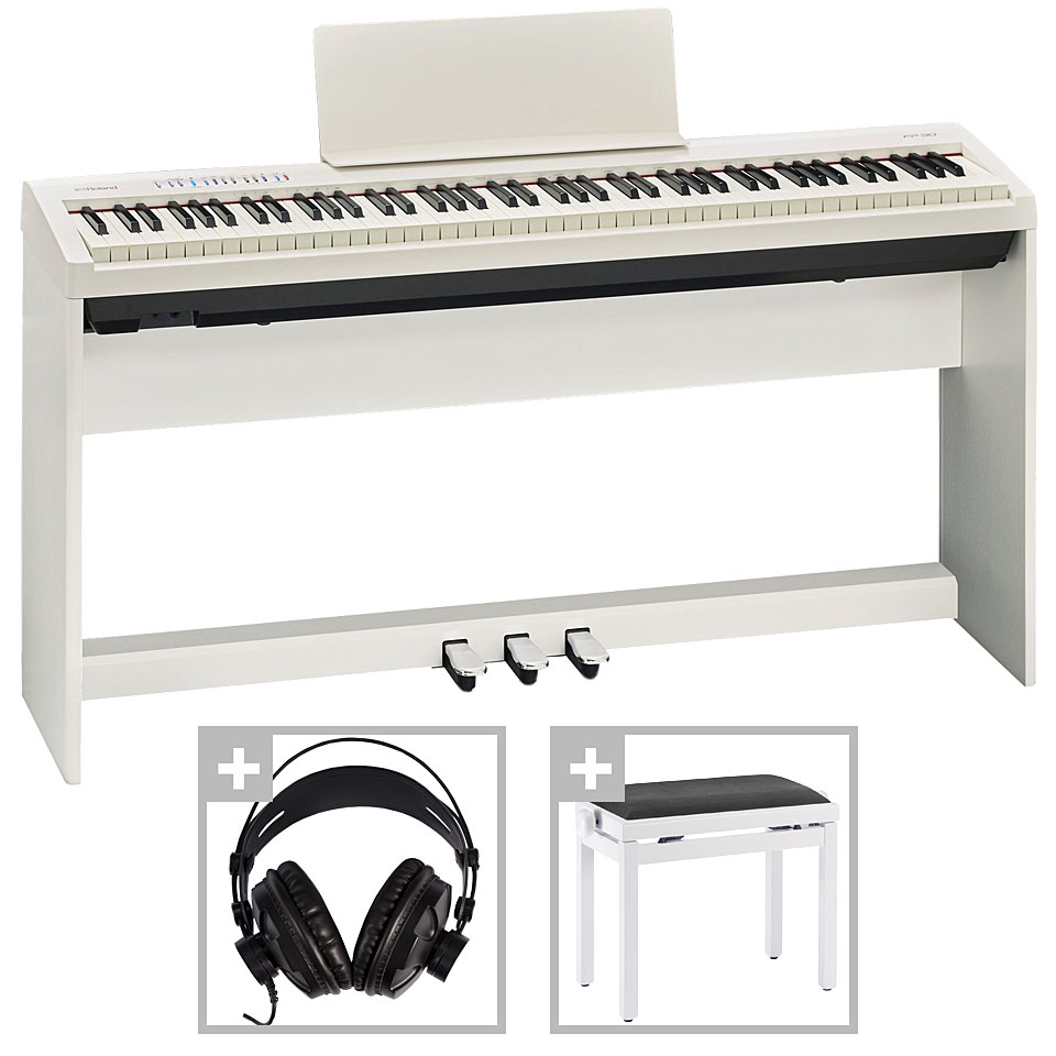 Roland Fp 30 Wh Deluxe Set Stage Piano Musik Produktiv