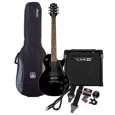 Epiphone LP Studio EB / Line 6 Spider Classic 15 MP-Bundle