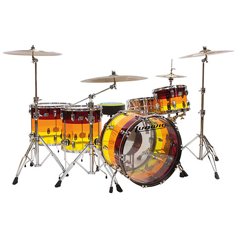 Ludwig Vistalite 24  LTD Tequila Sunrise
