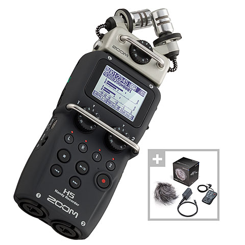 Digital Audio Recorder Zoom H5 APH-5 Bundle