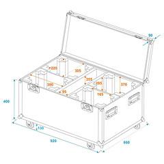 Roadinger Flightcase for 4 x TMH FE-1800