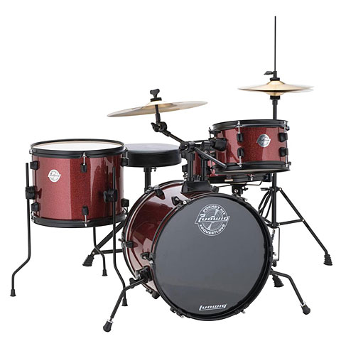 Batería Ludwig Pocket Kit Red Sparkle