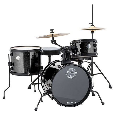 Batterie acoustique Ludwig Pocket Kit Black Sparkle