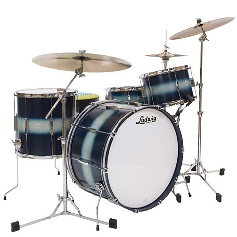 Ludwig Club Date USA 22  Blue Silver Duco