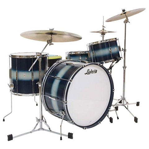 Ludwig Club Date USA 24  Blue Silver Duco