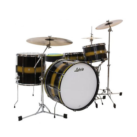 Ludwig Club Date USA 24  Black Gold Duco
