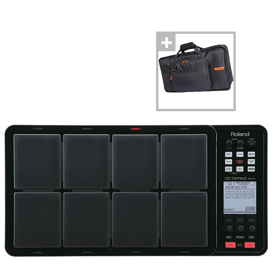 Edrummodule - Roland SPD 30 BK Octapad Bag Bundle Percussion Pad - Onlineshop Musik Produktiv