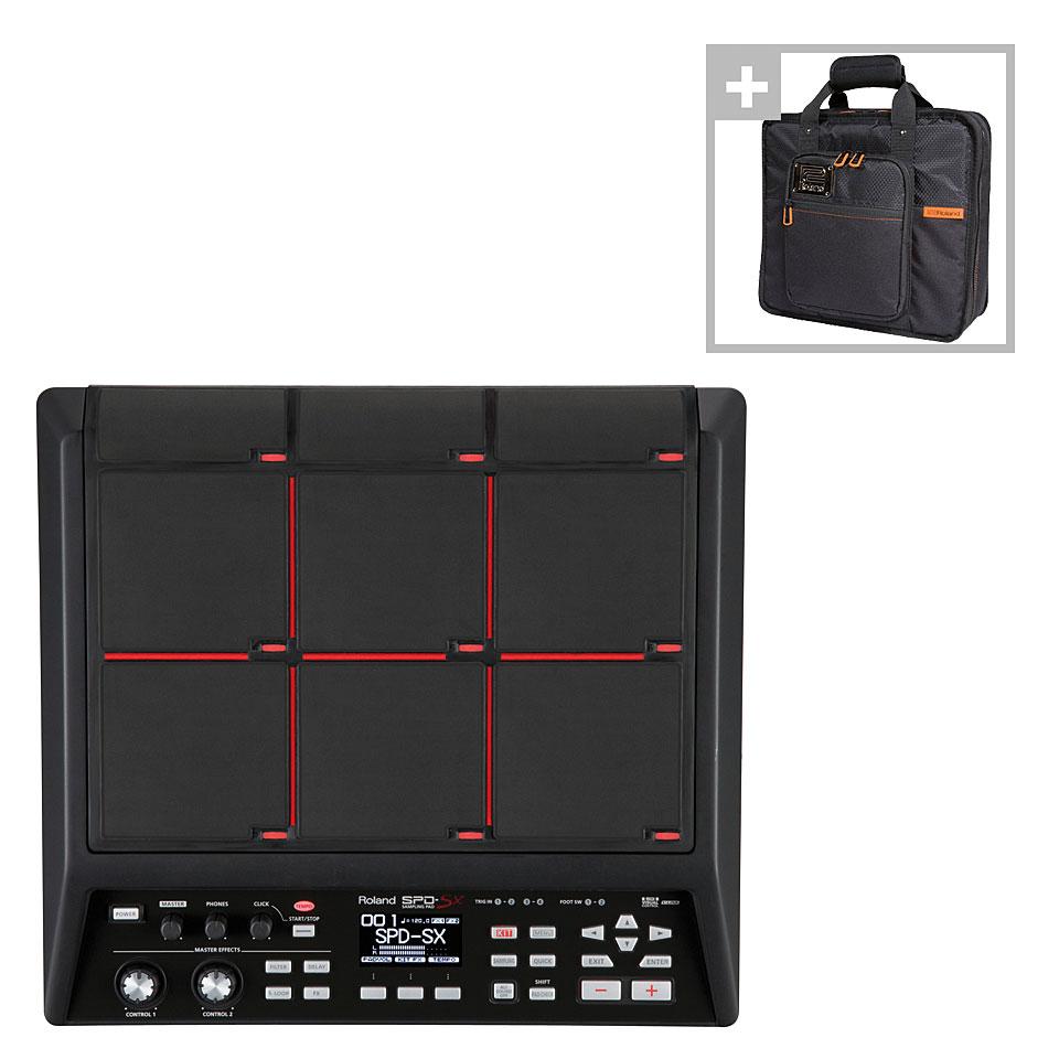 Edrummodule - Roland SPD SX Sampling Pad Bag Bundle Percussion Pad - Onlineshop Musik Produktiv
