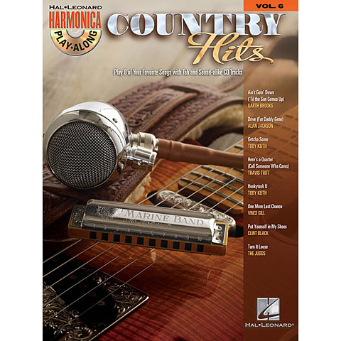 Hal Leonard Harmonica Play-Along Vol.6 - Country Hits