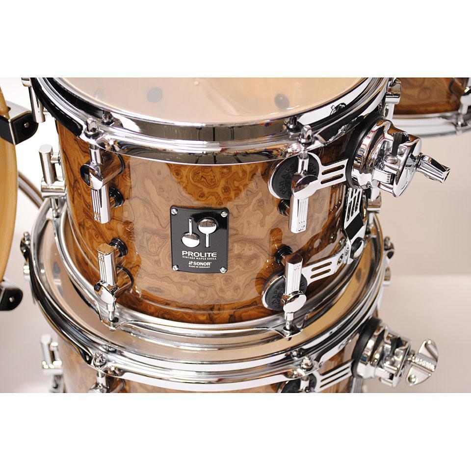 Sonor Prolite Pl12 Stage3 Chocolate Burl 171 Drumstel